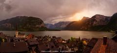 The jewel of the Alps (Fernando Hueso Photography) Tags: hallstatter see lake town sunset alps mountains chimney church obertraun lago austria republik osterreich atardecer sun hallstatt