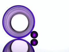 Purple Circles (Karen_Chappell) Tags: stilllife white abstract reflection geometric glass lines ball circle purple geometry orb sphere round shape