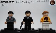 Cyril, Sterling & Cheryl (Random_Panda) Tags: films film movie movies tv show shows television lego fig figs figures figure minifig minifigs minifigure minifigures characters character archer sterling