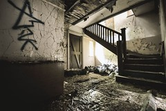 New Location Anyone want to shoot here - get in touch. (samstrong1) Tags: urbex location cool creepy house stairs rotten