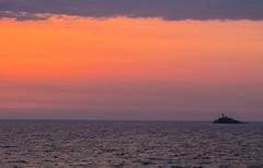 Corfu Lighthouse (TommyWHV) Tags: leuchtturm meer sea ozean ocean aida ship korfu mittelmeer adria sonnenuntergang landscape landschaft sundown europe griechenland greece canon eos outdoor wasser kste coast lighthouse