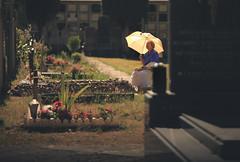 The Vigil (Gure Elia) Tags: samyang135f2 vigil velar velando mujer woman cemetary cementerio pamplona irua nafarroa umbrella