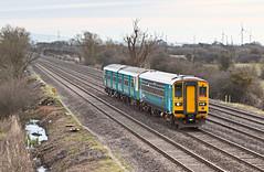153303 150258 2F04 0737 Ebbw Vale Town - Cardiff at Peterstone Newport 01.04.2016 (The Cwmbran Creature.) Tags: british rail class railway train trains 150 153 sprinter