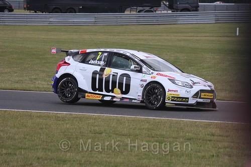 Mat Jackson in Touring Car action during the BTCC 2016 Weekend at Snetterton