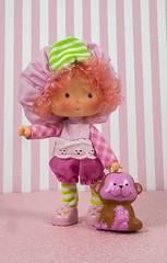 Raspberry Tart (CptSpeedy) Tags: strawberryshortcake vintage original doll rhubarb monkey pet kenner sweet fruity 1980s 80s cartoon animated americangreetings toy girl fruit