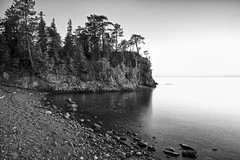 lake superior stone beach (twurdemann) Tags: 06ndsoftgrad algoma beach blackandwhite canada fujixt1 gnd2s highway17 hoyandx8 lakesuperior landscape leeseven5 longexposure nature neutraldensityfilter niksilverefex northernontario ontario scenic seascape shoreline sky stonebeach sunset water xf14mm