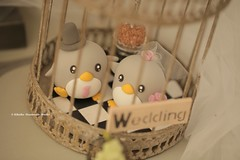 Penguins wedding cake topper (charles fukuyama) Tags: wedding weddingcaketopper penguin animals handmadecaketopper custom cute claydoll sculpted cakedecor tabledecor ceremonydecoration centerpiecedecor gift kikuike pingino