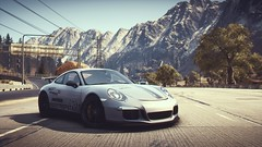 Highway Lover(s) (polyneutron) Tags: car photography porsche 911 gt3 white supercar racer needforspeed nfs rivals pc videogame photomode depthoffield trees retrowave