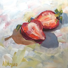 Juicy (MaryPargas) Tags: fineart dailypainting impressionist red stilllife strawberries
