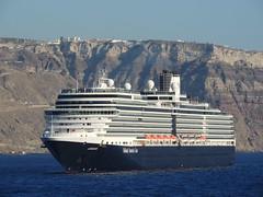 Holland America Lines' 'Eurodam' cruise ship, Santorini (Thira), Greece (Steve Hobson) Tags: holland america lines eurodam cruise ship santorini thira fira greece