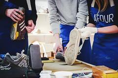 Afour CF demolition lab. (Evgenia Makarova) Tags: shoes demolition sneakers footwear laboratory sneaker custom afour