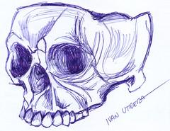 calavera en lapicero (ivanutrera) Tags: calavera calaca skull draw dibujo drawing dibujoalapicero boligrafo pen lapicero dibujoaboligrafo