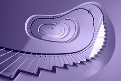 Violet vibrations (Elbmaedchen) Tags: berlin stairs stairwell staircase spirale escaliers treppenhaus treppenauge