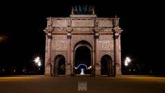 Arc de Triomphe du Carrousel in Paris (Bart Ros) Tags: street longexposure travel sky paris architecture night dark de pentax bart arc triomphe streetphotography du architectural ros carrousel k1 streephoto