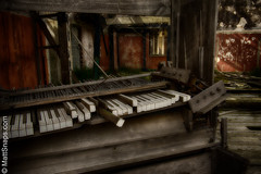 The Piano (MattSnapsPhotography) Tags: wood instrument floor paint ruin building piano walls keys vintage architecture disused broken music old strings