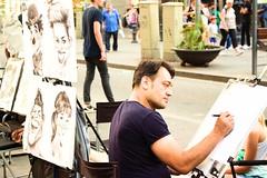 - street Artist - (louisrigaud) Tags: amateur photography canon explore travel pleasure job concentration draw barcelona street lasramblas artist portrait