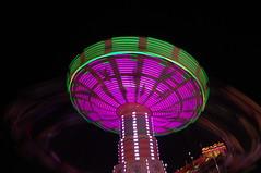 Blur (jmaxtours) Tags: blur green ex ride purple swings midway canadiannationalexhibition theex exhibitionplace themidway theexhibition