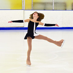 Talented little ball of energy 1 (R.A. Killmer) Tags: skill smile speed skate talented skater performance energy spunky hair fast fearless fly leap spin ice blades edges