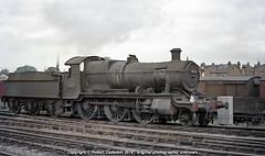 1964 - Mogul at Leamington.. (Robert Gadsdon) Tags: steam 1964 withdrawn 260 mogul gwr scrapped 6364 churchward 43xxclass leamijngton