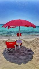 Lifeguard (ricmain) Tags: blue sea italy beach italia mare blu lifeguard porto salento spiaggia sabbia bagnino cesareo mainiero