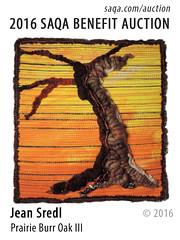 Prairie Burr Oak III by Jean Sredl (saqaart) Tags: artquilts saqa fiberart quilts textiles artwork stitched layered trees tree