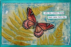 ICAD # 42 Little Things (clayangel_sc) Tags: artcards art doodles indexcardaday icad aceo ooak draw indexcards butterfly mixedmedia
