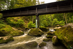 Bridge over the waterfall (Ben Pillen Photography) Tags: bridge green fall nature water canon germany flow photography waterfall long exposure ben 10 over mm brcke 10mm pillen wasserfalle irrel 1100d 1018mm canon1100d