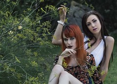 Eryn and Jenna (micadew) Tags: hot sexy beautiful beauty modeling gorgeous models longhair sensual redhead stunning redhair modgirls beautifulbrunette