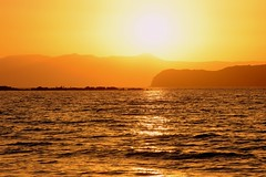 the sunset (JoannaRB2009) Tags: sunset sea sun landscape seascape nature view island water mediterranean sky summer holiday yellow orange katodaratso chania hania canea crete kriti kreta greece