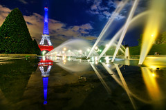 France (Elliot Gilfix) Tags: eiffel tower eiffeltower tour toureiffel france french flagoffrance drapeau frenchflag reflection reflections elliotphotos elliot gilfix elliotgilfix sunset dusk