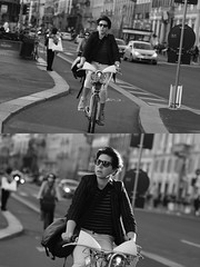 [La Mia Citt][Pedala] con il BikeMi (Urca) Tags: milano italia 2016 bicicletta pedalare ciclista ritrattostradale portrait dittico nikondigitale mir bike bicycle biancoenero blackandwhite bn bw bnbw 881147 bikemi bikesharing