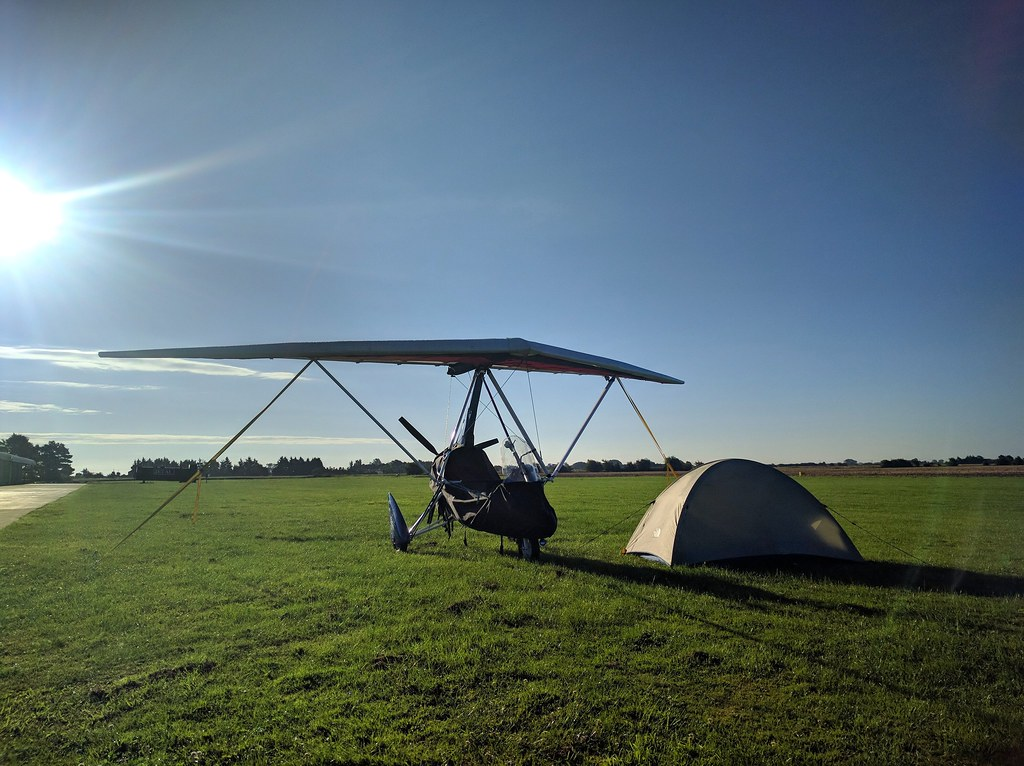 Dawn at Fenland, before the flight home to East Fortune