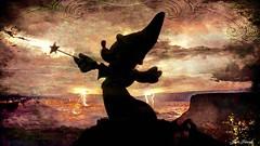 L'Apprenti Sorcier (jeanfenechpictures) Tags: apprentisorcier sorcerer apprentice magie magic mickey dessin draw baguettemagique magiswand wand rocheuse rocky clair lightning nuages cloads tempte storm