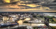 Crooked River (Paco_X) Tags: cuyahoga river lakeerie flats cleveland liftbridge dusk ohio
