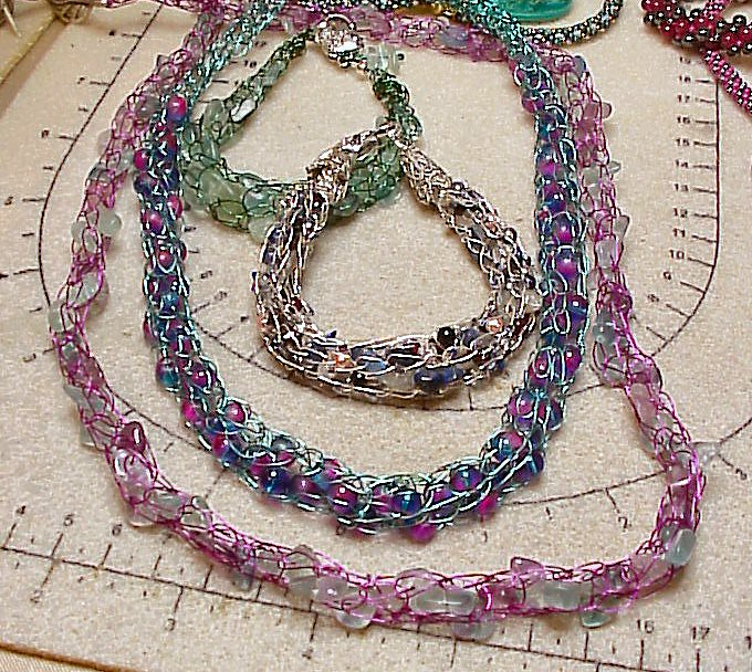 Prerequisite: Introduction to Beading class or experience with jewelry tools. In this class students will build on the foundation of the basic wire loop technique to learn how to create your own findings. Using simple tools and basic materials you can make your own earwires, headpins, and clasps.