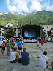 Chamonix (AmyEAnderson) Tags: chamonix france europe rhonealpes alps marathon town event sport stage onlookers crowd people mountains