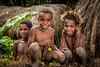 Three Best Friends (tehhanlin) Tags: indonesia papua westpapua irianjaya nusantara honai noken wamena sony a7r2 a7rm2 ngc travel portrait humaninterest sukudani jayapura koteka
