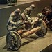 Beautifully detailed chariot attachment depicting wrestlers 1st - 2nd century CE Roman Bronze