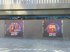 Barcelona: Camp Nou (FC Barcelona) (escriteur) Tags: img4553 spain barcelona catalonia citytour bus westroute campnou fcbarcelona futbolclubbarcelona estadidelfcbarcelona bara
