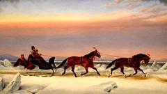 Canada 2016  Toronto  Art Gallery of Ontario  Sleigh ride (Michiel2005) Tags: sleigh slee horse paard sneeuw snow painting schilderij art kunst ago artgalleryofontario toronto canada ontario