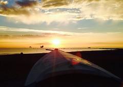 Iph503 (gzammarchi) Tags: italia paesaggio natura mare ravenna lidodidante alba sole nuvola riflesso barca