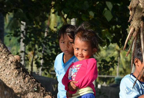 Indonesia kids at the Mangsit Beach, Lombok