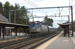 Flying Toaster (imartin92) Tags: station train massachusetts sharon rail amtrak passenger abb northeastcorridor aem7 asea northeastregional