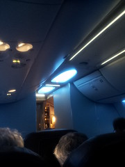 Mood lighting (chuck92000) Tags: qantas flight melbourne adelaide clouds blue sky mode lighting