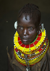 Turkana Tribe Woman With Huge Necklaces And Earrings, Turkana Lake, Loiyangalani, Kenya (Eric Lafforgue) Tags: africa portrait people woman beauty fashion vertical closeup photography necklace women day adult kenya decoration earring multicoloured tribal headshot piercing jewellery ornament bead tribe youngadult adultsonly oneperson ornement kenyan eastafrica rift braidedhair traditionalclothing realpeople turkana colorimage darkbackground onewomanonly ruralscene personalaccessory oneyoungwomanonly nonurbanscene colourimage 1people indigenousculture neckring loiyangalani onlywomen turkanalake nomadicpeople northkenya colourpicture ethnicjewel onewomanonlywoman kenya201401127