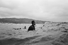 Scripps Southside (gonelandcruising) Tags: blackandwhite film analog surf sandiego lajolla surfing scripps filmphotography surfphotography surferphotos