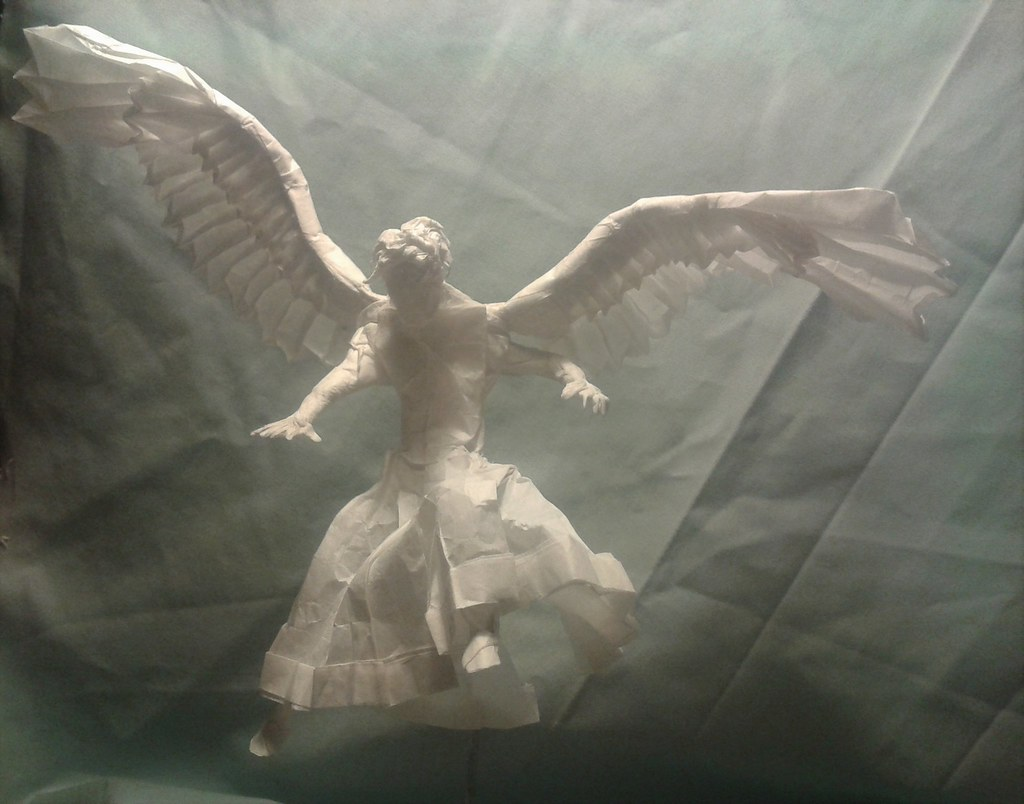 Angel By Philip Kuhns Nikita Vasiliev Tags Wings Origami Human Philipkuhns