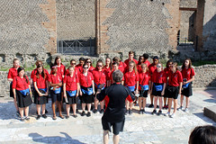 Cleveland Singing Angels performing in front of Pompeii ruins (KHM Travel Group) Tags: etw encompass world travel italy rome bill coyle pope leaning tower pisa singing angels