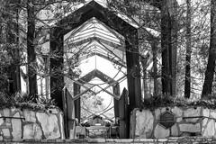 the glass church (lemank) Tags: bw modernarchitecture lloydwright wayfarerschapel ranchopalosverdes theglasschurch californiatrip2016