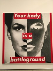 Your body is a battleground. (dustin.gebhard) Tags: barbara kruger photographic silkscreen fine art thebroad los angeles 1989art